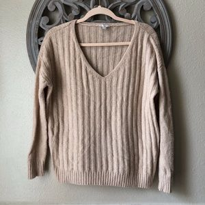 GAP wool blend tan soft sweater